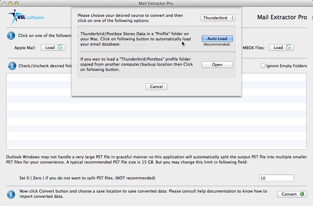mac thunderbird to pst converter tool