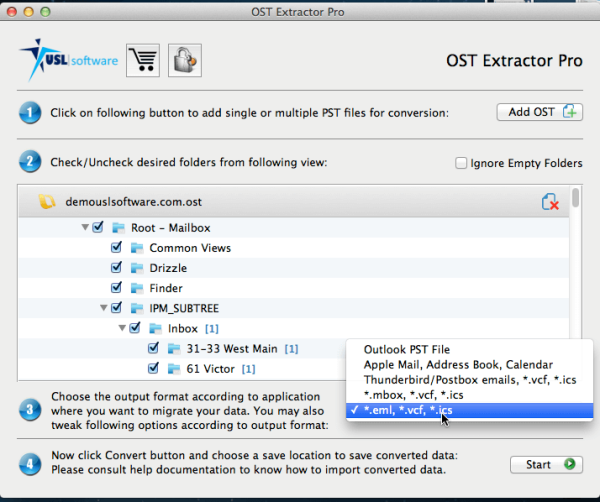 OST to PST conversion tool