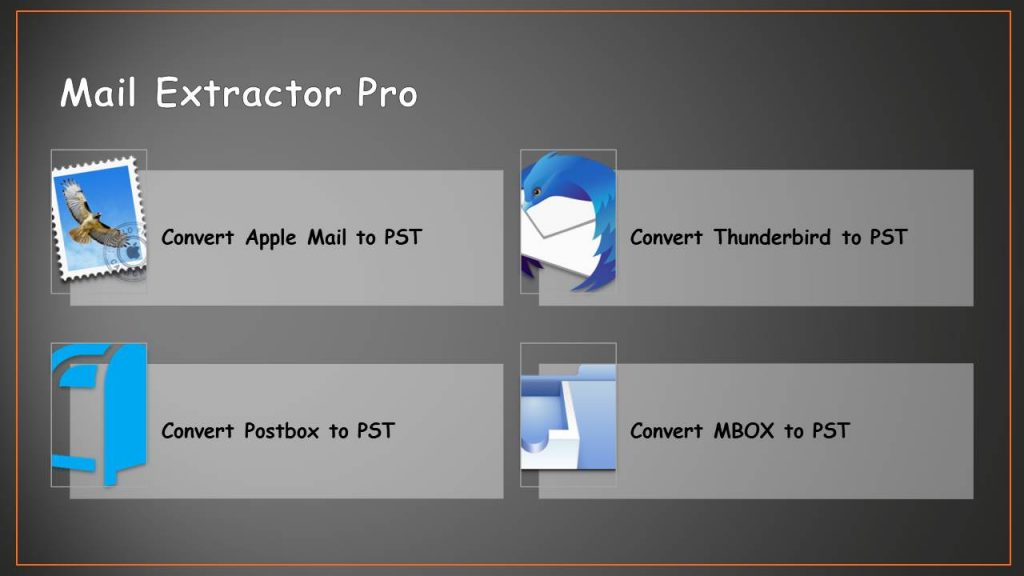 Apple Mail EMLX to Pst converter for Mac