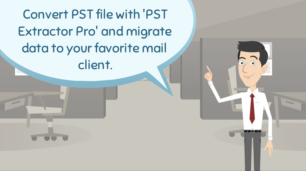 migrate PST files to EML
